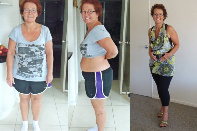 Corinne before and after Pure hCG something to really smile about