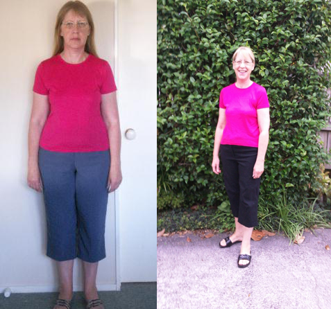 Jill before and after her journey on Pure hCG Protocol feeling fantastic!